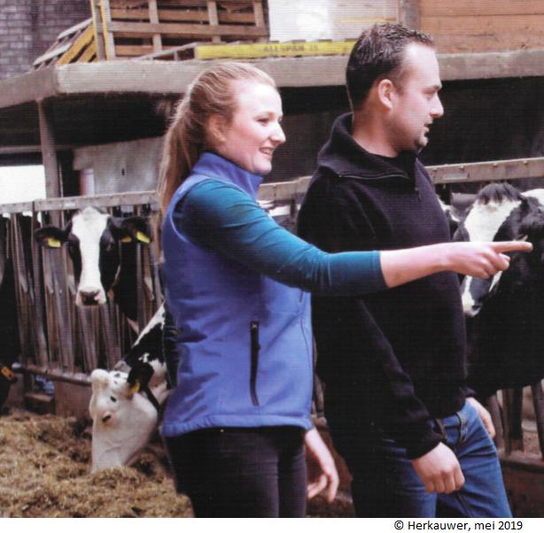 Jarno Talens en dierenarts Tjarda Sinnige - Herkauwer - Mei 2019